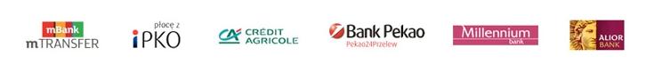 loga banków - płatności online w e-kabiny.pl